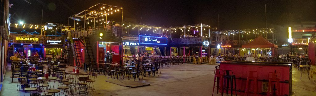 newly completed container market in Phnom Penh, representing a booming commercial scene in Cambodia